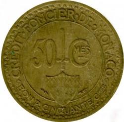 Кованица > 50центи, 1926 - Монако  - reverse