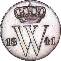 Monedă > ½cent, 1841-1847 - Regatul Țărilor de Jos  - obverse