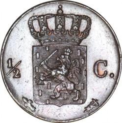 Monedă > ½cent, 1841-1847 - Regatul Țărilor de Jos  - reverse