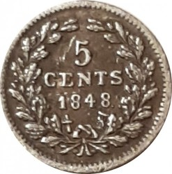 Münze > 5Cent, 1848 - Niederlande  - reverse
