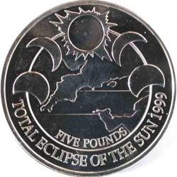 Moneta > 5sterline, 1999 - Alderney  (Eclissi totale del sole) - reverse
