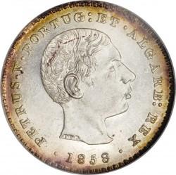 Монета > 100рейса, 1857-1861 - Португалия  - obverse