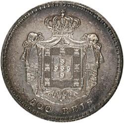 Кованица > 500реиса, 1854 - Португал  - reverse