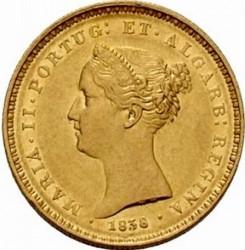 Монета > 2500рейса, 1838 - Португалия  - obverse