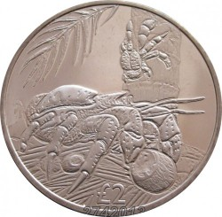 Moneta > 2svarai, 2018 - Indijos Vandenyno Britų Sritis  (Crab) - reverse