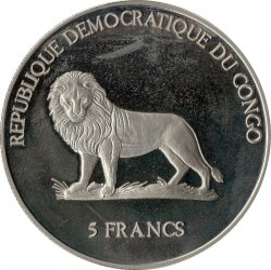 Մետաղադրամ > 5ֆրանկ, 2000 -  Կոնգոյի Դեմոկրատական Հանրապետություն  (Panama Canal) - reverse