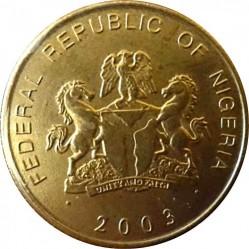 Монета > 1кобо, 2003 - Нигерия  - obverse