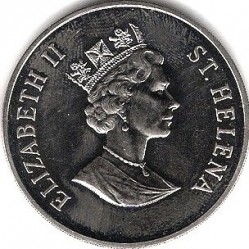 Moneta > 50pence, 1998 - Sant'Elena  (Fondo Mondiale per la Natura - Corriere piccolo  ) - obverse