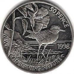 Moneta > 50pence, 1998 - Sant'Elena  (Fondo Mondiale per la Natura - Corriere piccolo  ) - reverse