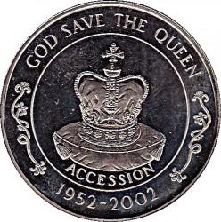Moneta > 50pence, 2002 - Sant'Elena  (50° anniversario - Ascesa della regina Elisabetta II ) - reverse