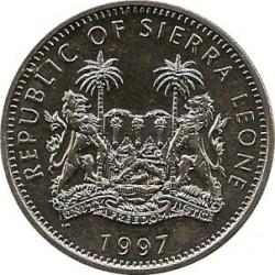 Moneda > 1dólar, 1997 - Sierra Leona  (Velociraptor) - obverse
