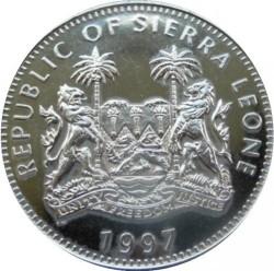 Mynt > 1dollar, 1997 - Sierra Leone  (Diana - The People's Princess /Mother Teresa/) - obverse