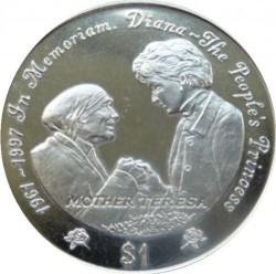 Mynt > 1dollar, 1997 - Sierra Leone  (Diana - The People's Princess /Mother Teresa/) - reverse