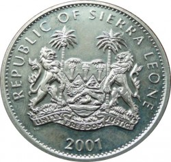Moneta > 1dollaro, 2001 - Sierra Leone  (I grandi cinque - Bufalo nero) - obverse