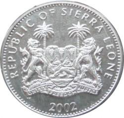Монета > 1долар, 2002 - Сиера Леоне  (50th Anniversary - Accession of Queen Elizabeth II /Elizabeth II and young Charles in window/) - obverse