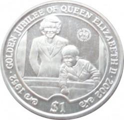 Монета > 1долар, 2002 - Сиера Леоне  (50th Anniversary - Accession of Queen Elizabeth II /Elizabeth II and young Charles in window/) - reverse