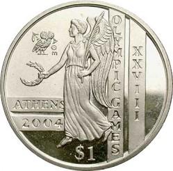 Moneta > 1dollaro, 2003-2004 - Sierra Leone  (XXVIII Giochi olimpici estivi, Atene 2004) - reverse