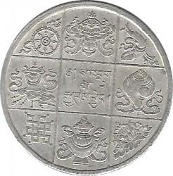 Moneta > ½rupie, 1928 - Bhutan  (Układ monety (180°)) - reverse