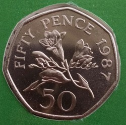 Moeda > 50pence, 1987 - Guernsey  - obverse