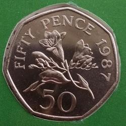 Moeda > 50pence, 1987 - Guernsey  - reverse