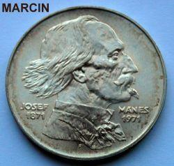 Moneta > 100corone, 1971 - Cecoslovacchia  (100° anniversario - Morte di Josef Mánes) - obverse