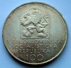 Moneta > 100corone, 1971 - Cecoslovacchia  (100° anniversario - Morte di Josef Mánes) - reverse