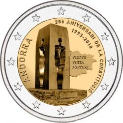 Moneda > 2euros, 2018 - Andorra  (25º Aniversario - Constitución de Andorra) - obverse