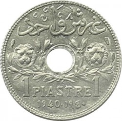 Кованица > 1пиастр, 1940 - Либан  - reverse