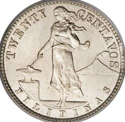 Monēta > 20sentavo, 1928 - Filipīnas  - reverse
