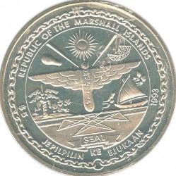 Moneta > 5dolarów, 1993 - Wyspy Marshalla  (Bohaterom Północnego Atlantyku) - obverse