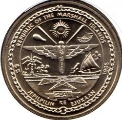Pièce > 5dollars, 1995 - Îles Marshall   (Elvis Presley) - obverse