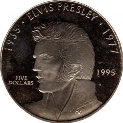 Pièce > 5dollars, 1995 - Îles Marshall   (Elvis Presley) - reverse