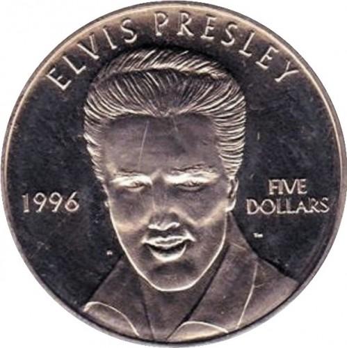 5 Dollar 1996 Elvis Presley Marshall Inseln Münzen Wert Ucoinnet