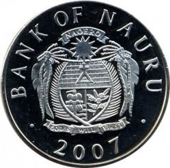 Münze > 1Dollar, 2007 - Nauru  (History of the Royal Air Force - Panavia Tornado and Gloster Meteor) - obverse