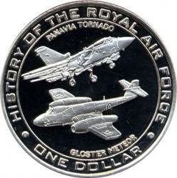 Münze > 1Dollar, 2007 - Nauru  (History of the Royal Air Force - Panavia Tornado and Gloster Meteor) - reverse