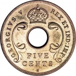 Moneda > 5centavos, 1920 - África Oriental Británica  - obverse