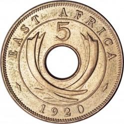 Moneda > 5centavos, 1920 - África Oriental Británica  - reverse