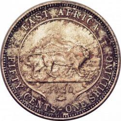 Moneda > 50cents, 1920 - Àfrica Oriental Britànica  - reverse