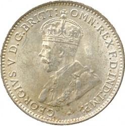 Монета > 3пенса, 1920 - Британская Западная Африка  (Серебро /серый цвет/) - obverse