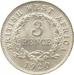 Монета > 3пенса, 1920 - Британская Западная Африка  (Серебро /серый цвет/) - reverse