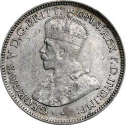 Moneda > 6pence, 1920 - Àfrica Occidental Britànica  (Plata /color gris/) - obverse