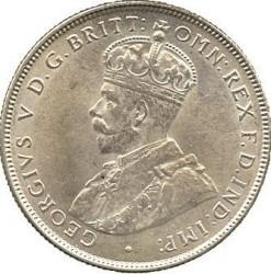 """Moneda > 2shillings, 1920 - Àfrica Occidental Britànica  (Seca """"H"""" - Plata /Color gris/) - obverse"""