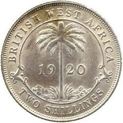 "Moneda > 2shillings, 1920 - Àfrica Occidental Britànica  (Seca ""H"" - Plata /Color gris/) - reverse"