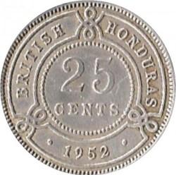 Coin > 25cents, 1952 - British Honduras  - reverse
