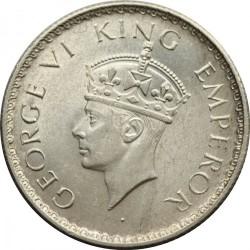 Moneta > ½rupia, 1939 - India Britannica  (Fleur-de-lis on the crown don't cross semi arc) - obverse