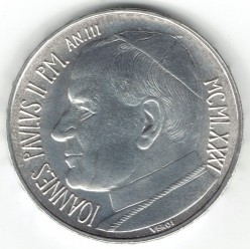 Minca > 500lire, 1981 - Vatikán  - reverse
