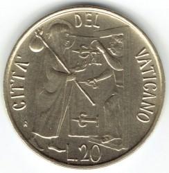 Minca > 20lire, 1981 - Vatikán  - reverse