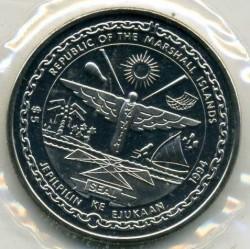 Moneta > 5dollari, 1994 - Marshall (Isole)  (1994 FIFA World Cup ) - obverse