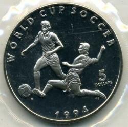 Moneta > 5dollari, 1994 - Marshall (Isole)  (1994 FIFA World Cup ) - reverse