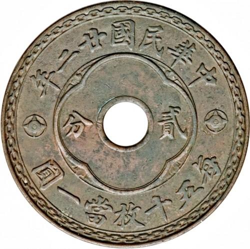 2 Fen 1933 China Republik Münzen Wert Ucoinnet